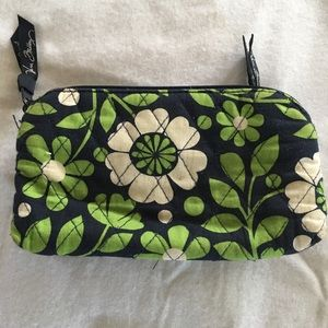 Vera Bradley dual pocket cosmetic bag
